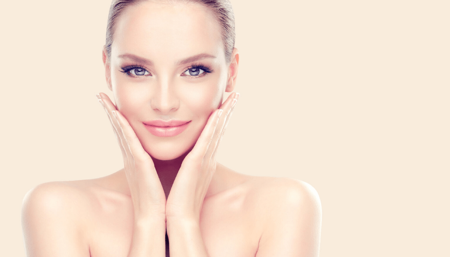 Somon DNA Tedavisi ile genç bir cilde sahip kadın